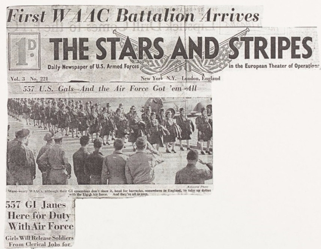 Front page of 'The Stars and Stripes' newspaper