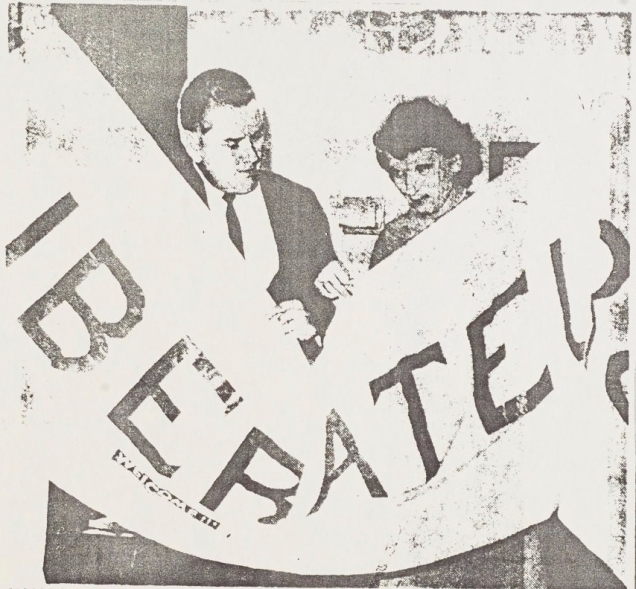 Homer and Ruth Badgett holding the Liberation banner