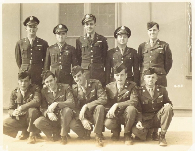 Photograph of ten of the crew of the B-24